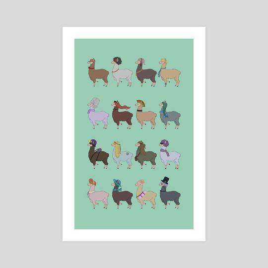 Fabulous Llamas by Esther H