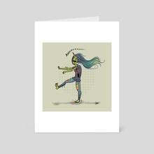 Zombie Girl - Art Card by Jess Rollar