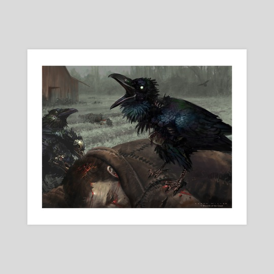 MTG - Carrion Crow by Aaron Miller