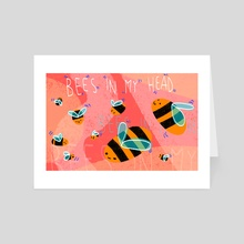 bees in my head - Art Card by coconut