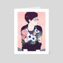 Flower Boy - Art Card by Meyoco
