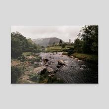 Rainy Glendalough Day - Acrylic by Jillian Noss