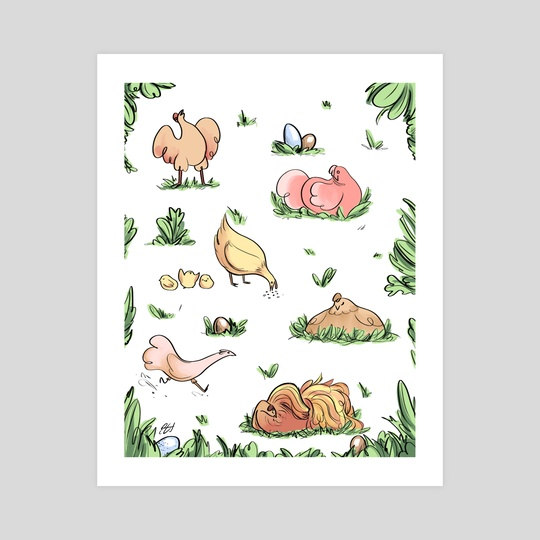 Spring Chickens by Emma Oosterhous