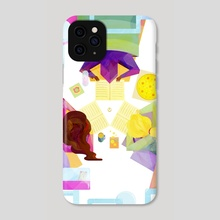 Sleepover - Bookworms United - Phone Case by Carly A-F
