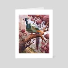 Peacock - Art Card by Laura Bifano