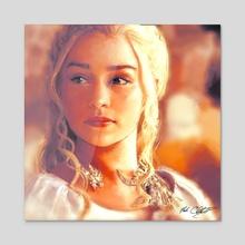 Mother of Dragons - Acrylic by MARK CLARK II