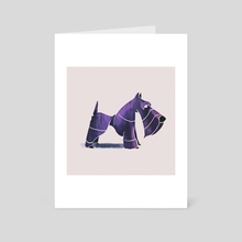Scottish terrier  - Art Card by Ali Saei