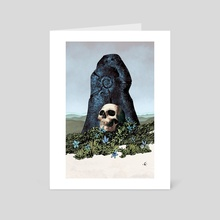 Skull Shrine - Art Card by Goran Gligović