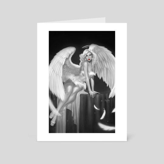 Penny For Your Soul: Burlesque Angel, noir version by Ula Mos