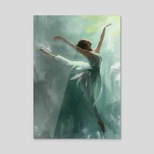 Ballerina - Acrylic by Jovan Maletic