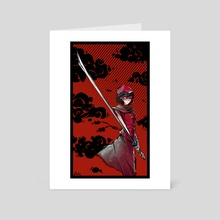 Samurai - Art Card by Peder Nygaard