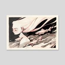 flowing - Acrylic by Lois van Baarle