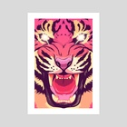Cool angry tiger - Art Print by Oh Wow!