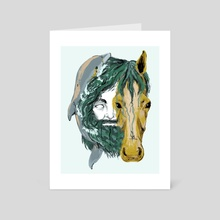 Poseidon - Art Card by Aimee Flom