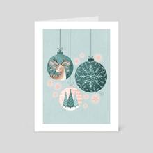 Christmas baubles  - Art Card by Colourlime