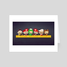 Mario 3 Suits - Art Card by Ken Wong