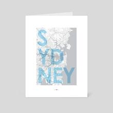 Sydney, Australia poster - Art Card by Revolution Australia
