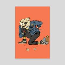 Dice Boy - Canvas by M C Wolfman