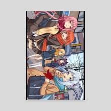 HoloEn - Ame Gura Ina Cali Kiara - School  - Canvas by Eternal-S