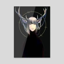 The deer - Acrylic by Kay IIZUKA