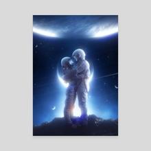 Space Love - Canvas by Nikki Arts