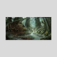 Inside the swamp - Canvas by Jerico Cinco