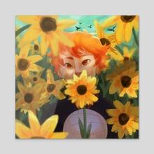 among the flowers  - Acrylic by cookiekappa