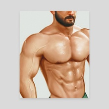 Pumped Muscles - Canvas by Aydn Candemir