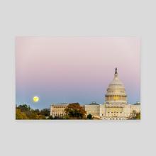 Sunrise Moon - Canvas by Alex Tonetti