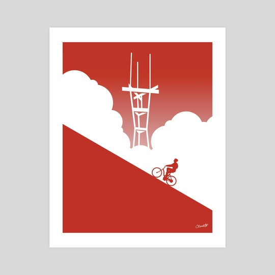 Biking in San Francisco: Sutro Tower by Chris Cerrato