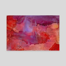 Magnetic Midnight   Alcohol Ink Abstract - Canvas by Ethel Wagner