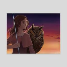 Smoldering Moonlight - Canvas by Alisa B.