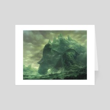 Meandering Towershell - Art Card by YW Tang