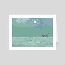 Sea Monster - Art Card by Grey C C