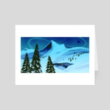 High Tundra (Moonlight) - Art Card by James Jeffers