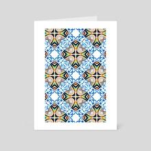 Mediterranean Tile  - Art Card by 83 Oranges