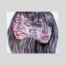 Twins - Canvas by Sophia Shokripour