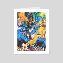 Gogeta  - Art Card by Yohann Paisant