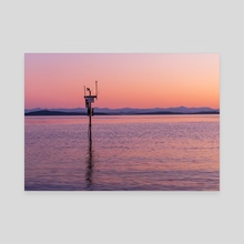 Weather Station at Yellow Bay - Canvas by Molly Ross