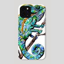 Magic Chameleon - Phone Case by Sebastian Grafmann