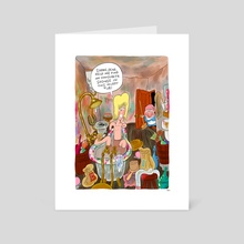 howl's walking bath - Art Card by George Mager