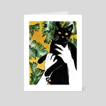Cat Offering - Art Card by Anna Henzy