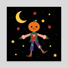Jack Pumpkinhead - Canvas by Carly Watts