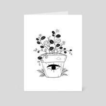 Flowerpot - Art Card by Sophia Rie Killoran