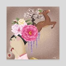 Thousand Springs - Canvas by Norico Chua