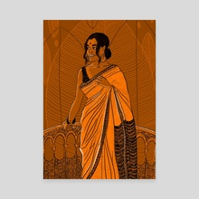 Six yards of pure grace 01 - Canvas by Dhanashree Pimputkar