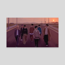 "iKON ""Goodbye Road"" - Canvas by milkyopi"