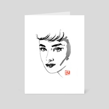 audrey hepburn - Art Card by philippe imbert