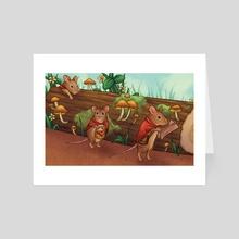 Travelers - Art Card by Shannon Szczepanski