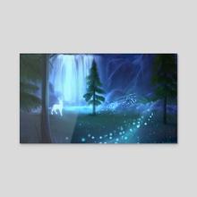 Magic Forest - Acrylic by Maria Shirko